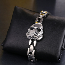 Hot Movie Star Wars Silver Alloy Bracelet Stormtrooper Mask Metal Bangle cosplay jewelry can dropshipping YS10589
