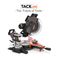 Tacklife PMS03A Sliding Miter Saw 12inch 15Amp Saws 3800rpm Double Bevel Compound Miter with Laser Electical Saws