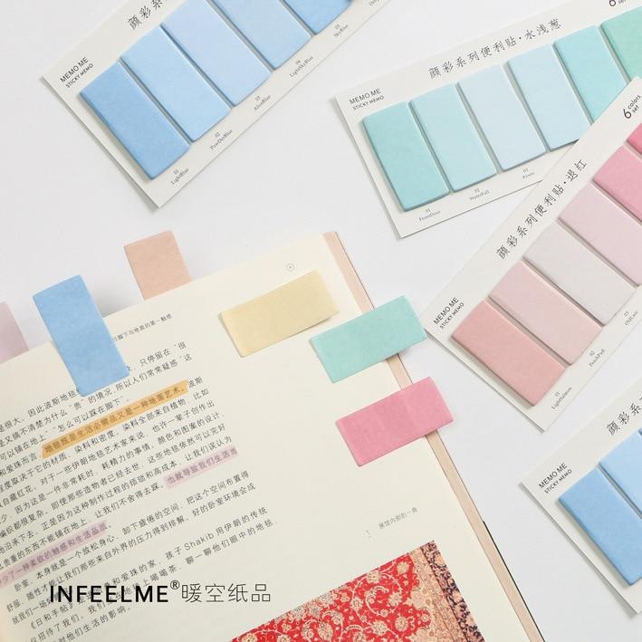 6 spalvų rinkinys mielas naujumas lipdukai atmintinės bloknotas - Bloknotai ir užrašų knygelės - Nuotrauka 3