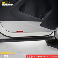 ANTEKE Car door Anti kick board cover Sitcker decoration trim for Volkswagen Tiguan 2010 2016