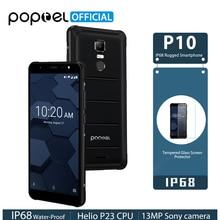 POPTEL P10 Helio P23 Android 8.1 IP68 Sağlam Telefon 5.5 inç 4 GB 64 GB Octa Çekirdek 13MP Parmak Izi Dokunmatik KIMLIK NFC 4G L...