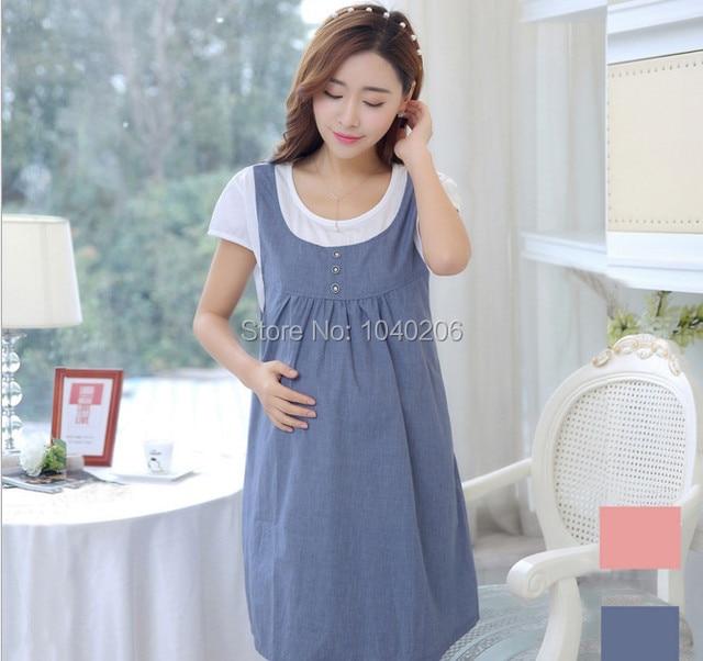4e2cc3524dfcd Hamile Giyim Yazlık Elbise Hamile Kadınlar Için Rahat Pamuk Analık Elbiseler