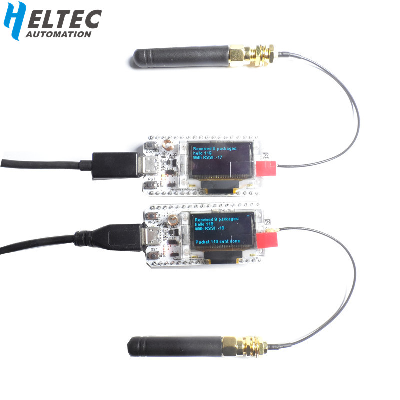 2 PCS 868 MHz-915 MHz SX1276 ESP32 LoRa 0.96 Pouce Bleu OLED Affichage Bluetooth WIFI Lora Kit 32 développement Conseil pour Arduino