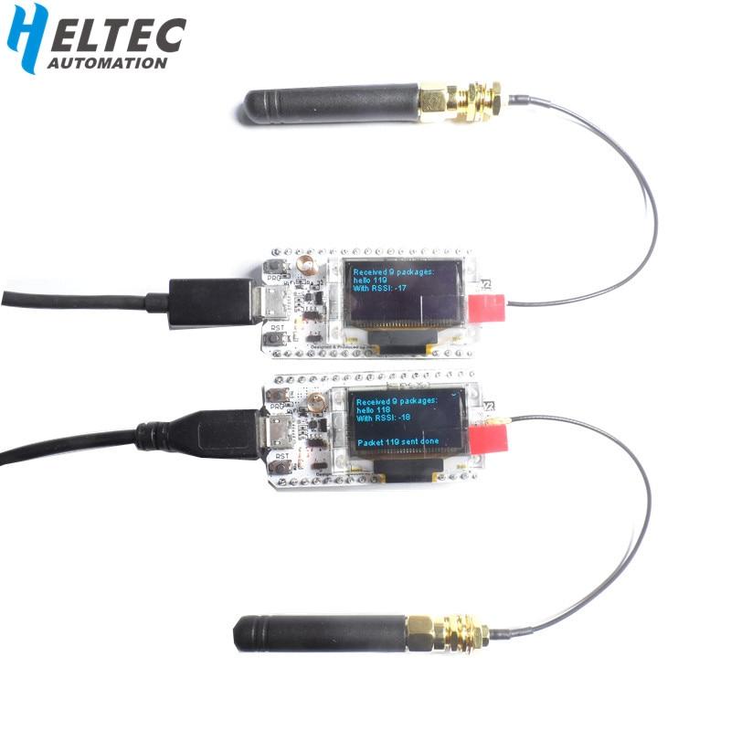2PCS IOT 868 MHz-915 MHz SX1276 ESP32 LoRa 0.96 Polegada Azul Display OLED Bluetooth WI-FI Kit Lora 32 V2 Development Board para Arduino