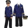 Пилот капитан костюмы для мальчиков хэллоуин костюмы для мальчиков хэллоуин косплей одежда равномерное костюм