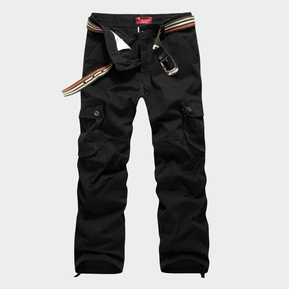 Мужская Камуфляж Cargo Pants Плюс Размер 29-44 Высокое Качество Бренда мужская Повседневная Армия Армия Брюки Мужчины прямые Брюки