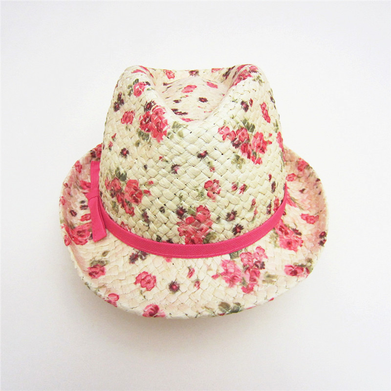 8d97aa11 Sweet Girls Hats Blower Baby Straw Cap Kids Outdoor Fishing Hats Floral  Rose Red Bow Girl Beanie Baby Girl Wearing Accessories-in Hats & Caps from  Mother ...