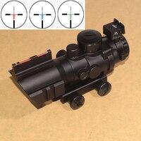 4x32 Acog Riflescope 20mm Dovetail Reflex Optics Scope Tactical Sight Rifle