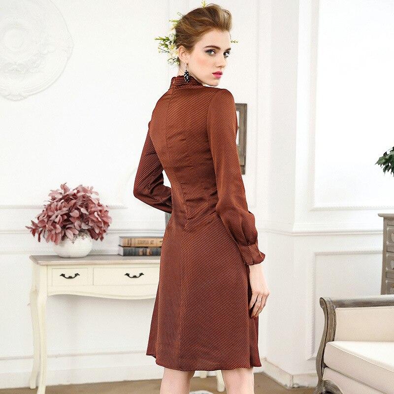 2018 New summer Dress high quality womens dress a word dress retro digital dot printed defined waist female vestido1196