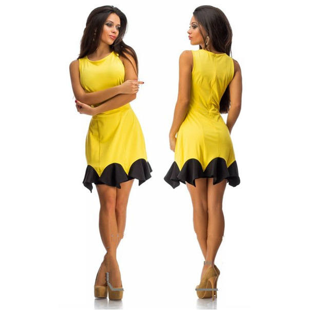Free Shipping Falbala Tail Swing Sleeveless Package Ocks Dress Was Frilly Party Dresses For Women In From S Clothing Accessories On