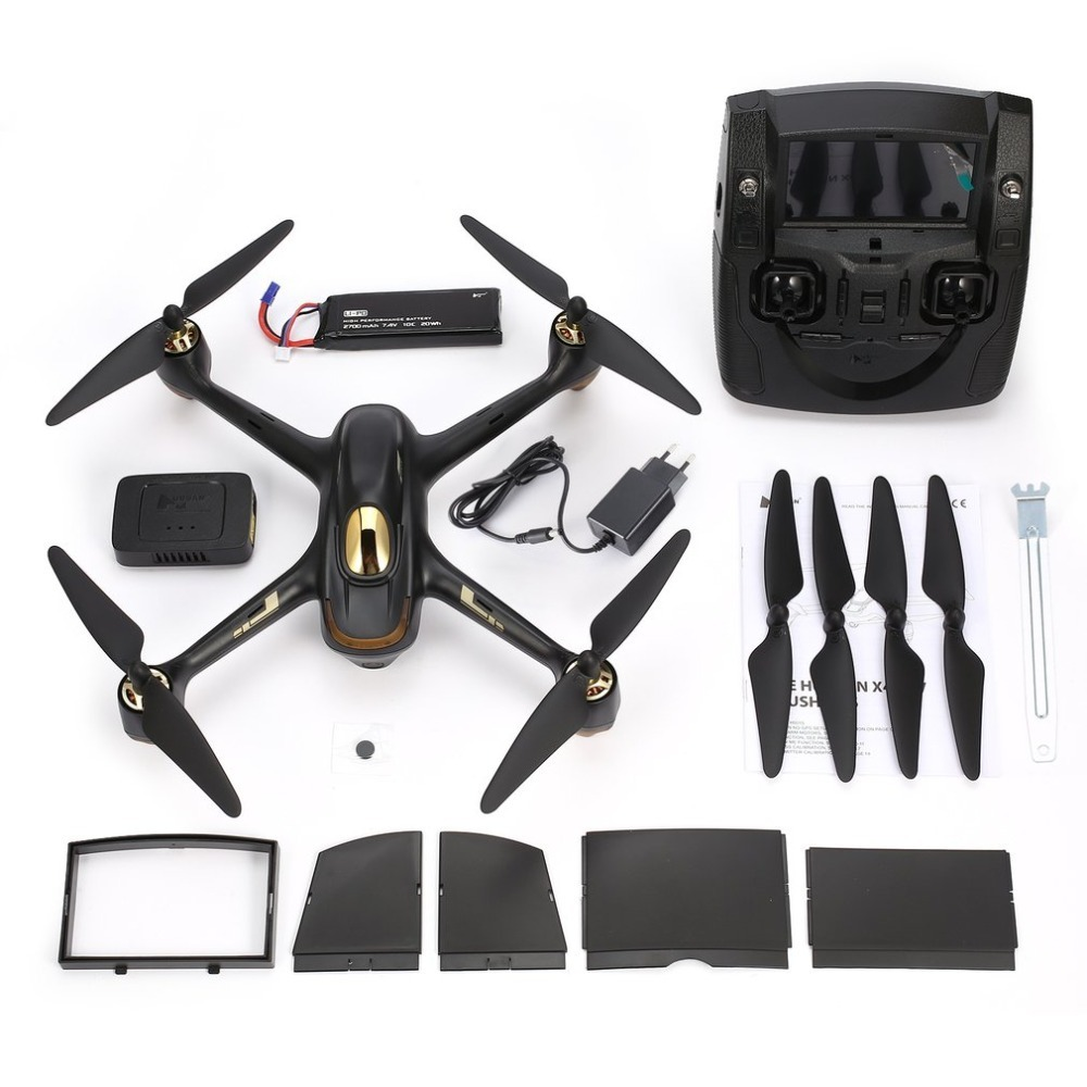 Hubsan H501S 5.8G FPV Brushless RC Helicopter 1080P HD Camera Drone Hold Automatic Return Headless Mode RC Quadcopter with GPS hubsan h501s lipo battery 7 4v 2700mah 10c 3pcs batteies with cable for charger hubsan h501c rc quadcopter airplane drone spare