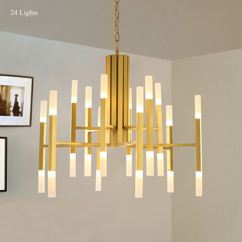 Modern Chandelier Lamp, Ceiling Pendant Branch Lights Lamp Lighting Fixture Large for Home Living Room Hall Foyer Decoration