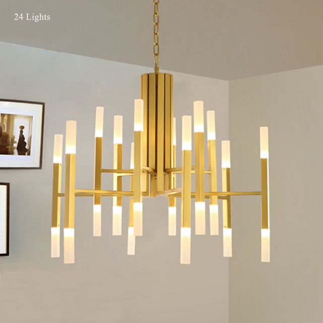 Modern Chandelier Lamp, Ceiling Pendant Branch Lights Lamp Lighting Fixture  Large For Home Living Room