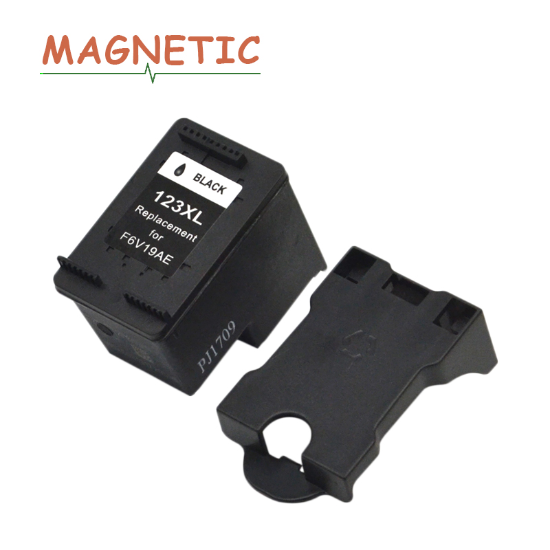Magnetic Compatible Black <font><b>Ink</b></font> cartridge For <font><b>HP</b></font> 123 For HP123 <font><b>Deskjet</b></font> <font><b>2130</b></font> 2132 3630 3632 1110 1111 1112 <font><b>Printer</b></font> 123 image