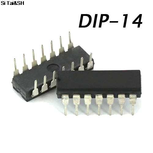 20PCS CD4069UBE DIP14 CD4069U DIP <font><b>CD4069</b></font> DIP-14 CD4069BE new and original IC image