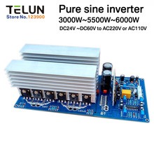 Peak 11000W continued 3000W 5000W 5500W DC24V/36V/48V to AC 220V pure sine inverter board /frequency inverter board Backup Power