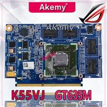 Akemy K55VJ GeForce GT 635 м N13P-GLR-A1 2 Гб видеокарта памяти для ASUS K55VJ K55VM графическая карта для ноутбука 100% тестирование