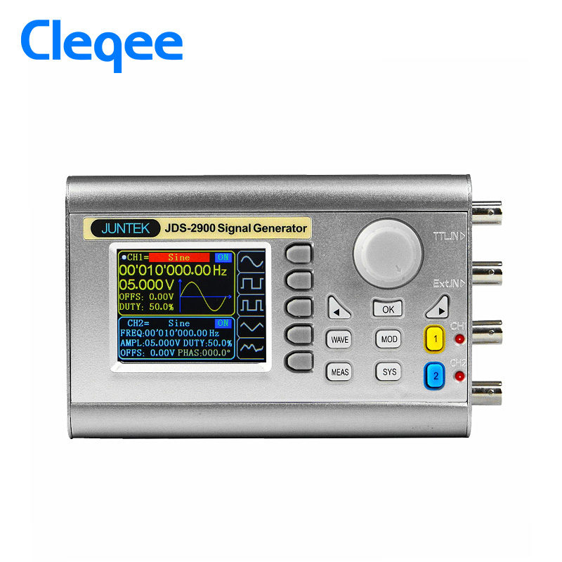 Cleqee JDS2900 50MHz digital control dual channel DDS function signal generator