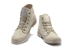 Image 4 - PALLADIUM Pampa Hi Work Casual Breathable Sneakers Lace Up  Ankle Boots Lace Up Canvas Men Casual Shoes Size 39 45