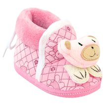 New Winter Baby Girl Snow Boots Shoes Newborn Infant Footwear Knitted Cartoon Bear