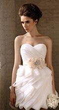 Fantastische Mantel Mini Kurze Brautjungfernkleider mit Schatz Besetzte Bowknot Perlen Strass Blume Partei Prom Kleider