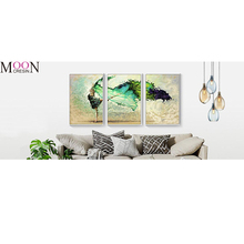 MOONCRESIN Diamond Embroidery Beautiful Triptych Dancer Diy Diamond Painting Cross Stitch Square Full Diamond Mosaic Decoration mooncresin 3d diy diamond embroidery beautiful blue eyes diamond mosaic full round diamond painting cross stitch decoration kits