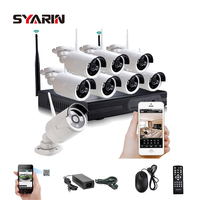 8CH CCTV System Full HD Wireless NVR 8pcs 1080P Waterproof IP WIFI Camera Home Security Safety