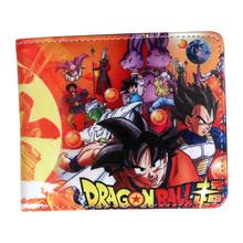 nowy portfel dzieci Dragon Ball Super postać portfel Dragon Ball Z Goku z kieszonkowy posiadacz karty monety cienkie tanie tanio Chłopców Masz Poliester Standard Wallets 9 5 cm Coin Pocket Interior Compartment Photo Holder Note Compartment Zipper Poucht Card Holder