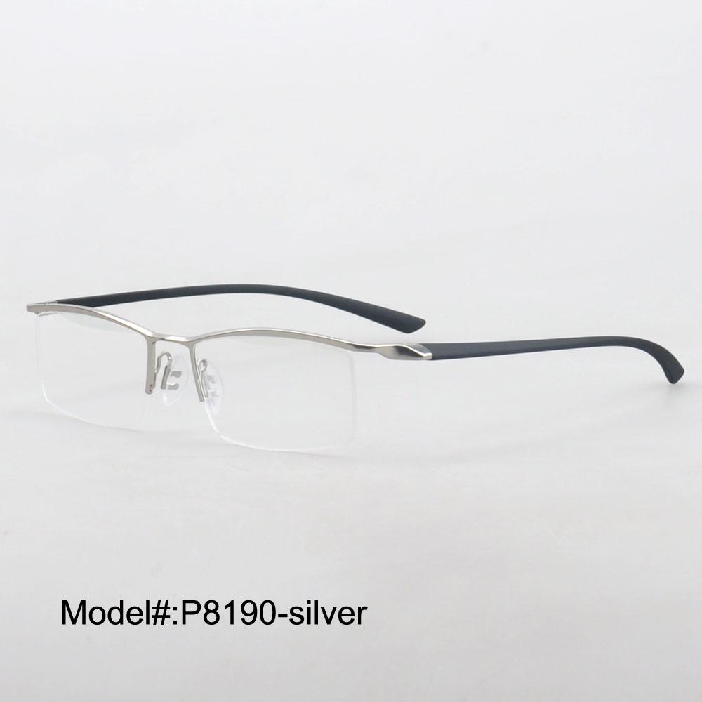 ୧ʕ ʔ୨MY DOLI half rim metal myopia eyewear eyeglasses men ...