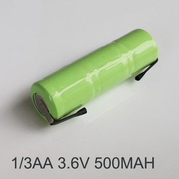 1-5 шт. 3,6 В 1/3AA Ni-MH аккумуляторная батарея 500 мАч 1/3 AA nimh ячейка со сварочными вкладками и вилкой