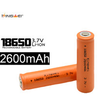4pcs/lot  Kingwei 18650 Rechargeable Battery 2600mAh 3.7V Li-ion Batteries for Flashlight Powerbank E-cigarette Headlight