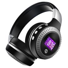ZEALOT B19 Bluetooth Casque Sans Fil Casque Sur Loreille FM Radio Micro SD Carte MP3 Jouer Avec Microphone