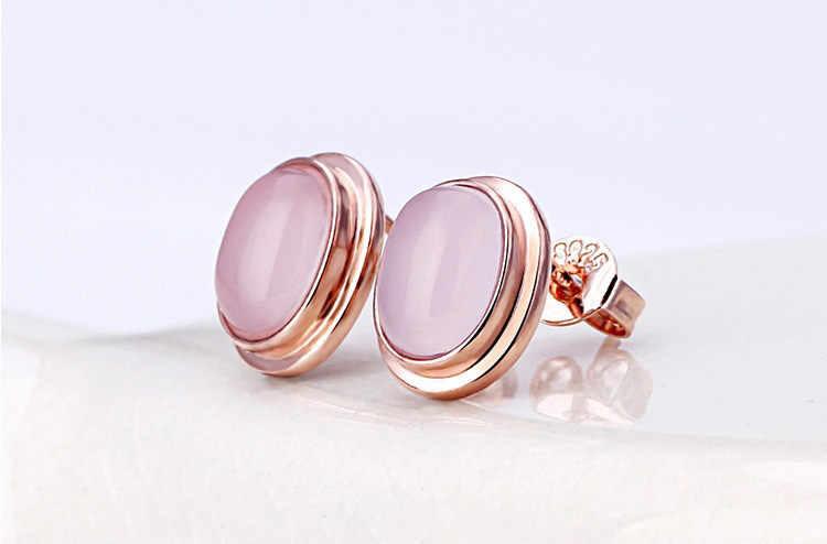 Almei or Rose couleur bijoux ensembles de mariage colliers et pendentifs boucles d'oreilles Rose cubique opale ensemble femmes filles cadeaux de mariée WHB97
