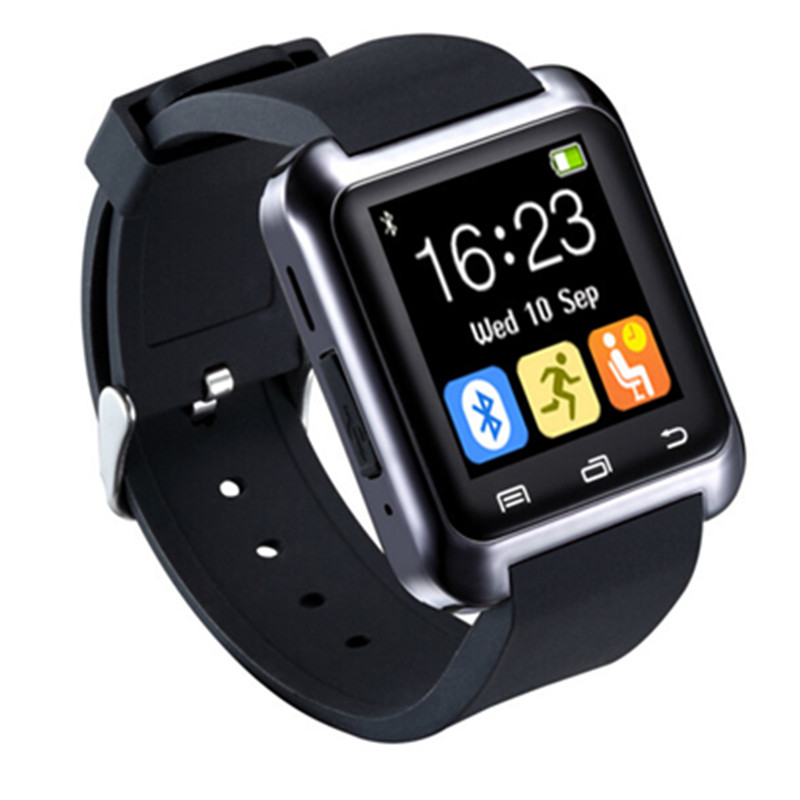 cheapest Custom Design U80 Touch Screen LED Rubber Sport Wirst Silicone SmartWatch for dial call pedometer sleep track