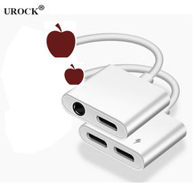 2 in 1 Audio Adapter charging Earphone Cable For iPhone 11 7 8 plus X Aux Jack headset For Lighting 3.5 mm To Headphone splitter(China)