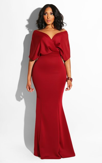 Women Maxi Dress Sexy Deep V-neck Off Shoulder Party Celebrate Sexy Evening Dating Night Out Dancing Long Package Hip Robe Tunic 6