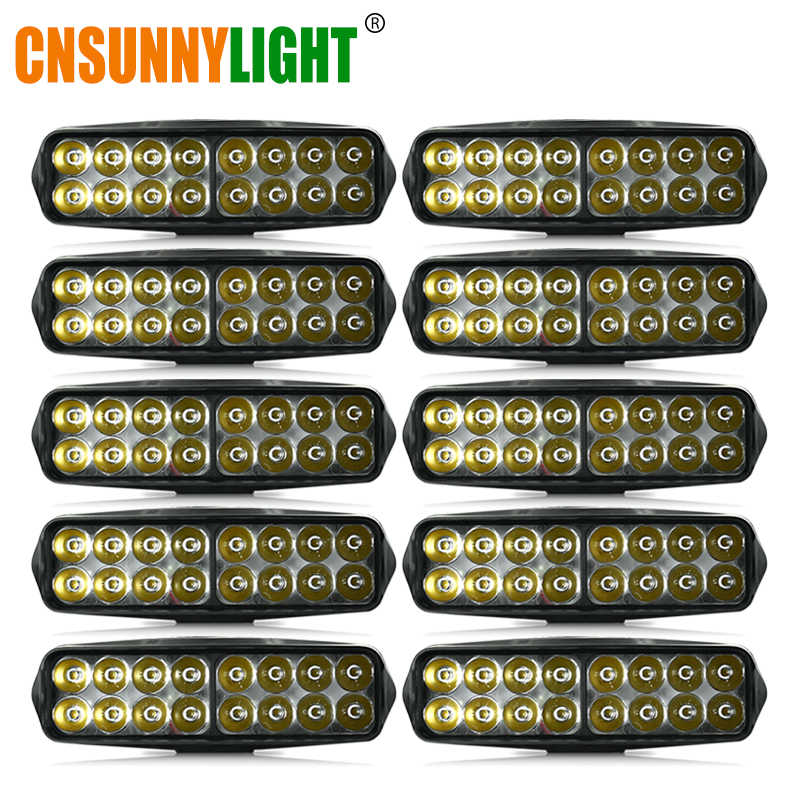 CNSUNNYLIGHT 10pcs 20W LED Bar Work Light Spot Beam Offroad 4000LM/pc 12V 24V for Jeep 4x4 ATV SUV Motorcycles Trucks Fog Lights