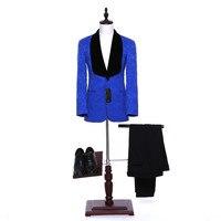 Calças novas jaqueta xale novo lapela do noivo vestido vinho personalizado vermelho/branco/preto/azul do Casamento Dos Homens conjunto (jaqueta + Shorts + Colete)