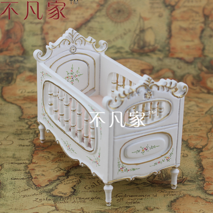 ФОТО Doll house for mini micro mini ature handmade colored drawing baby bed