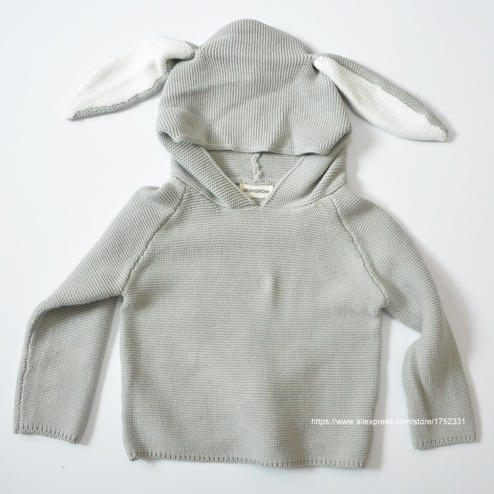 QUIKGROW-Quality-Textured-Cotton-Warm-Knitwear-Baby-Boy-Girl-Long-Sleeve-Sweater-Cute-Bunny-Rabbit-Hooded-Outwear-Tops-YM26MY-4