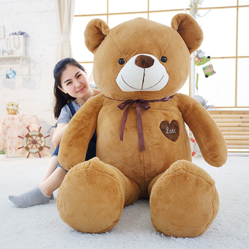 Soft Big Teddy Bear Stuffed Animal Plush Toy With Ribbon 120cm to 180cm Large Bears For Kids Giant Pillow Doll Girlfriend Gift