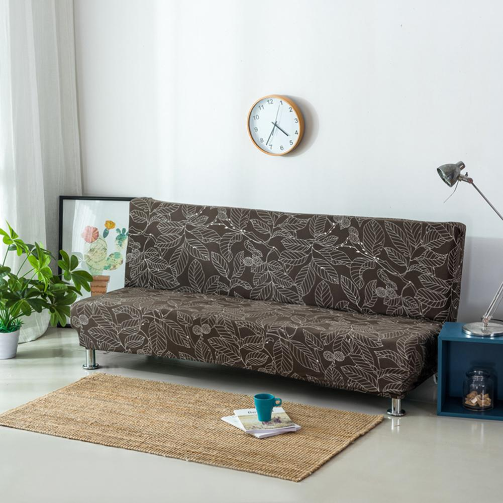 3d printed universal anti dirty black armless couch sofa covers for living room stretch sofa bed covers elastic sofa bed christmas gift shop