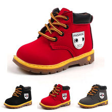 MUQGEW Baby Children Warm Boys Girls Sneaker Boots Kids Baby Casual Shoes Tie the British wind Boots#KM817(China)