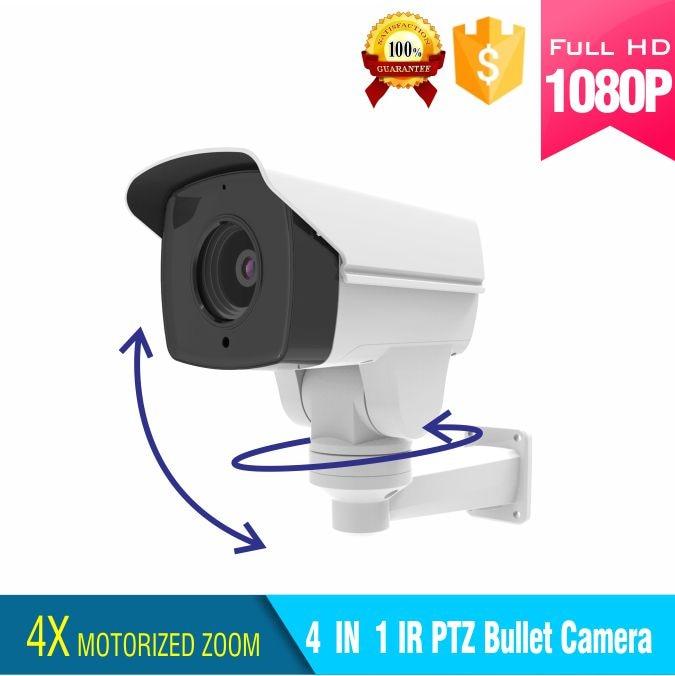 1080P 4 IN 1 IR bullet ptz camera ahd/tvi/cvi/cvbs output 4x motorized surveillance mini ptz camera 4 5 inch 1080p ahd ptz camera 2 0mp ahd tvi cvi cvbs 4 in 1 medium speed dome camera outdoor