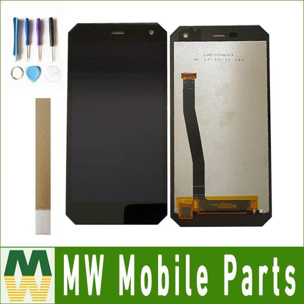 1 pc/lot Haute Qualité 100% Garantie 5.0 Pour DEXP Ixion P350 Tundra Écran lcd + Écran Tactile Noir Blanc couleur Avec Outils et Bande