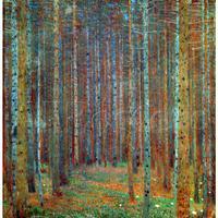 Figure oil canvas painting dance Tannenwald Pine Forest Gustav Klimt wall art modern home decor