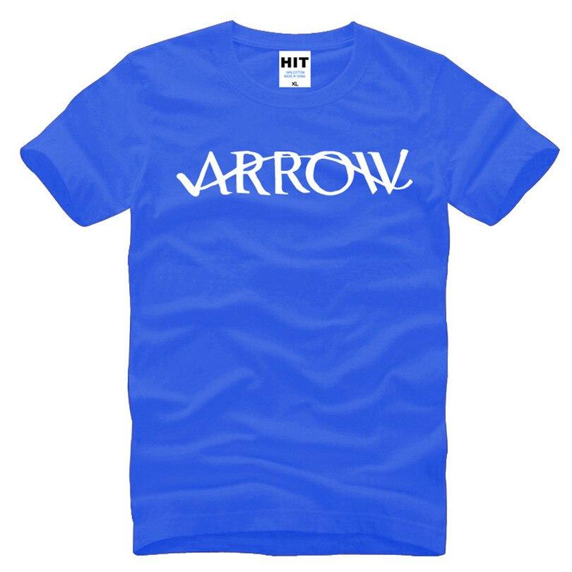 26aab99b8 Zielona strzałka list wydrukowano męska koszulka T Shirt dla mężczyzn 2016  nowy krótki rękaw O szyi