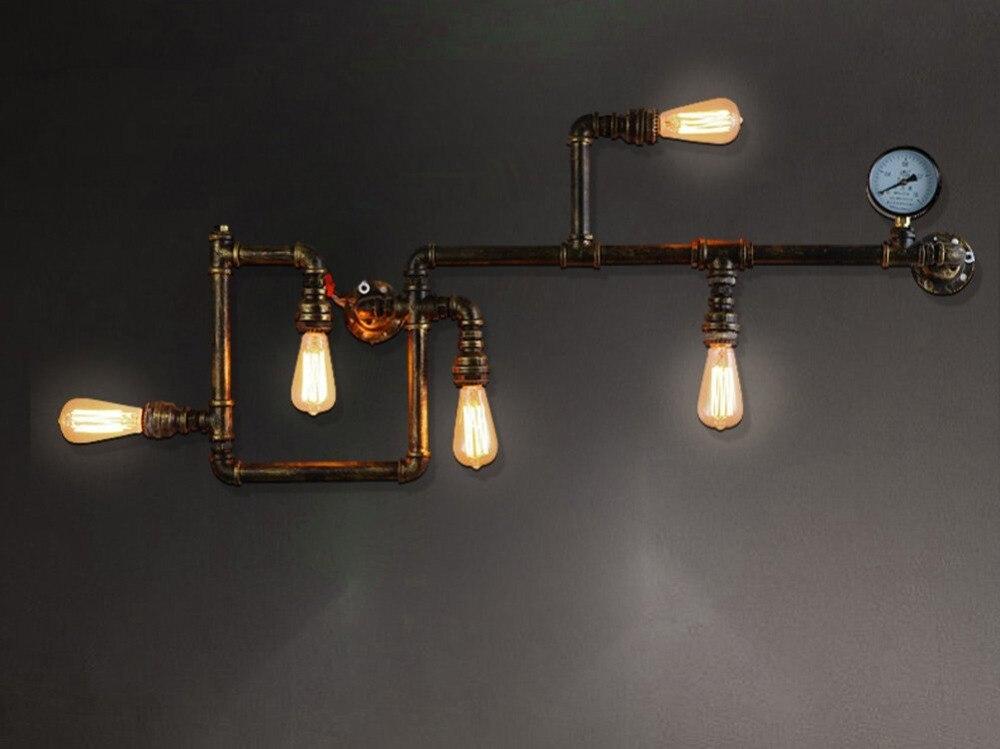 Applique tubo acqua applique da parete in stile industriale