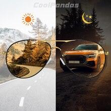 2019インテリジェントフォトクロミック偏光メンズサングラス日ナイトビジョン安全運転サングラス女性oculosデゾルmasculino
