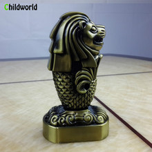 Singapore Merlion Statue Living Room Bedroom Study Metal Decoration Home Decoration Accessories Gifts(China)